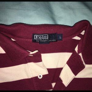 Polo stripped collar shirt